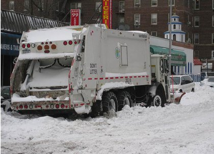 Aha!  Plows are stuck—that's why some roads aren't plowed.