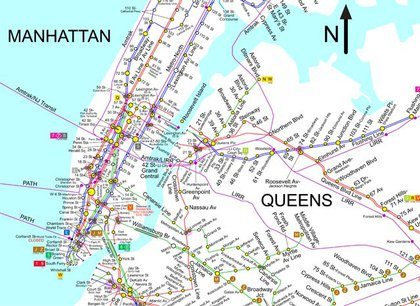 The geographically correct map (because it shows the city relative to true north) by SPUI