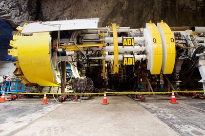 Adi, the boring machine, has been in use in projects around the city for more than thirty years, including the digging of the Brooklyn Water Tunnel.  She's named after the granddaughter of the current president of the MTA's construction authority.