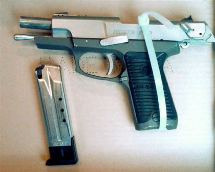 The weapon said to be used to shoot Officer Figoski in the face.