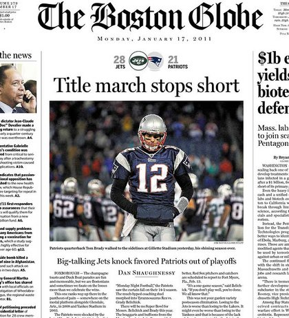 This is front page news in Boston.