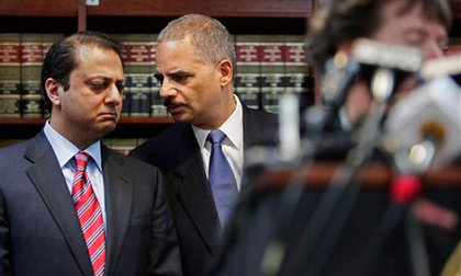 U.S. Attorney Preet Bharara and Attorney General Eric Holder