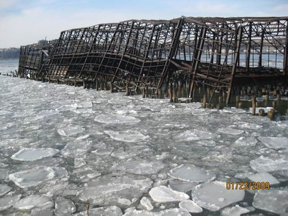 The pier two years ago