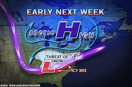 And, per Accuweather, there may be more next week