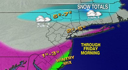 The WPIX snow map