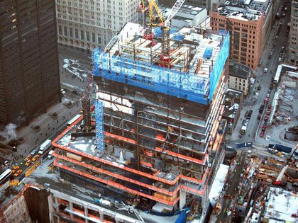 A photograph of construction at 4 WTC