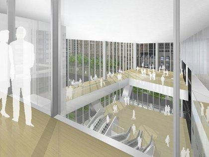 A rendering inside 4 World Trade Center