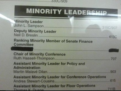 Via the Daily Politics, the Democratic conference has wasted no time in making sure Kruger is gone!