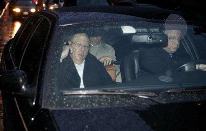 Kruger leaving court last night