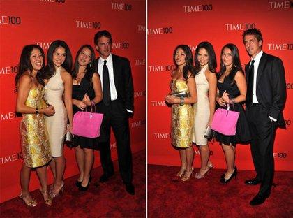 Amy Chua with husband Jed Rubenfeld and daughters Sophia Chua-Rubenfeld and Lulu Chua-Rubenfeld