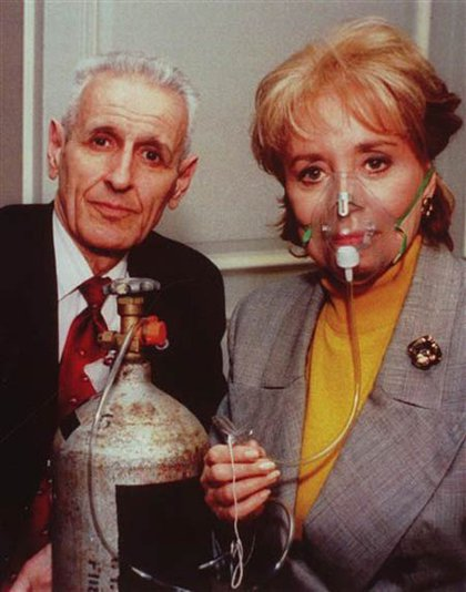 With Barbara Walters in 1993