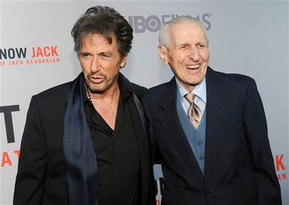 Al Pacino and Kevorkian at a premiere