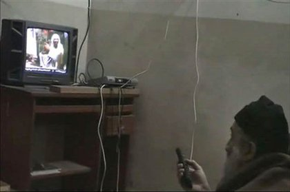 From one of the videos of bin Laden watching TV—the TV shows bin Laden