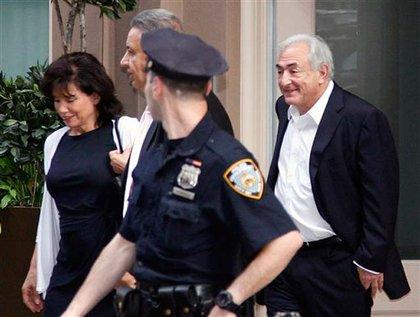 Dominique Strauss-Kahn in Tribeca yesterday