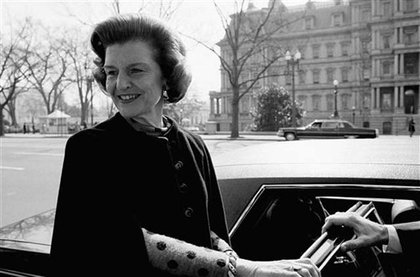 Betty Ford in 1974