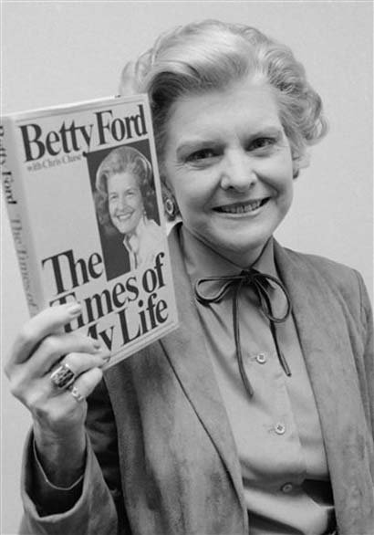 Betty Ford in 1978 with her biography