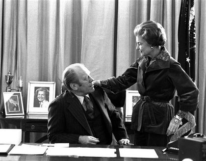 President Ford packs up in the White House in 1977