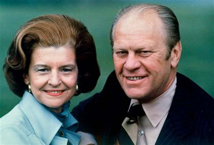 Betty and Gerald Ford in 1975