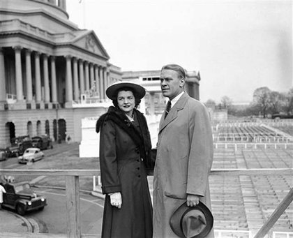 Betty and Gerald Ford in D.C. in 1949