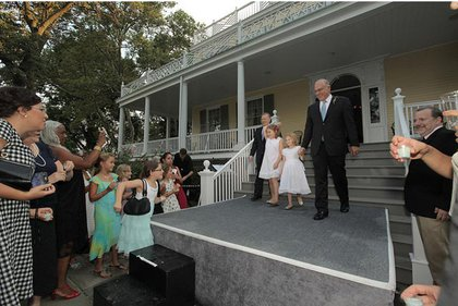 Cheers at Gracie Mansion