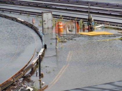 Irene's aftermath at the Coney Island rail yard