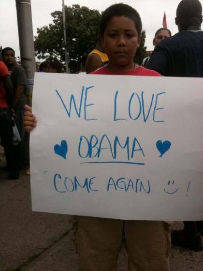 An Obama supporter in NJ