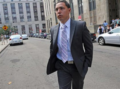 Franklin Mata's sentencing was postponed until Wednesday because his lawyer was detained in Brooklyn.