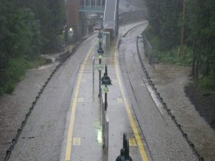 Hurricane Irene: Metro-North Railroad's Harlem Line was flooded at Valhalla.