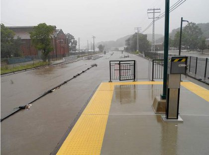 The Ossining Station—you can only see the third rail!