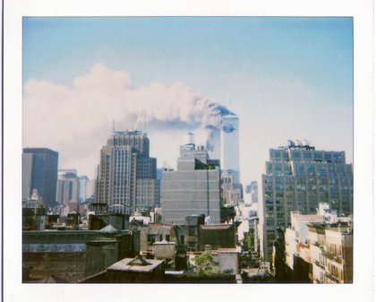 Polaroid aken from a rooftop in Soho