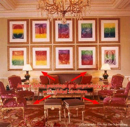 London townhouse: Bloomberg once told the Times he wasn't into modern art.  Guess he showed them.