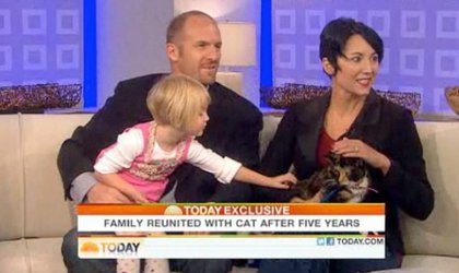 Little Lola Squires pets Willow during the Today Show segment