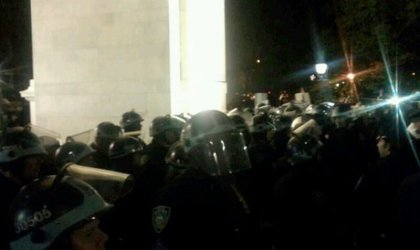 ": ""Riot police, ready to work. #occupywallstreet #ows"""