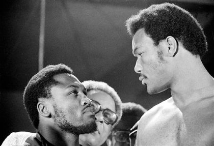 Frazier and George Foreman in 1972