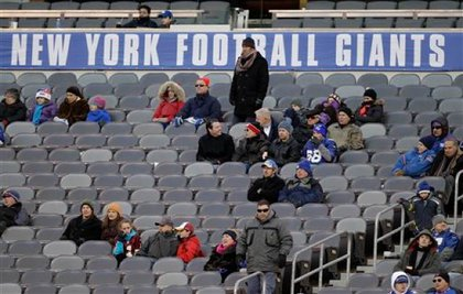 Giants fans NOT AMUSED at MetLife Stadium.