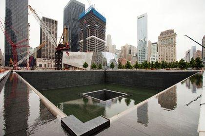 The North Memorial Pool at the 9/11 Memorial