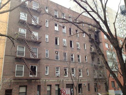 21 East 2nd Street, after the fire.