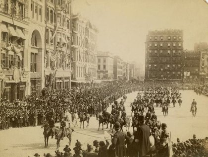 Just for context, this was a Columbus Day Parade in Union Square in 1892.