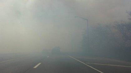 The smoke on the West Shore Expressway!