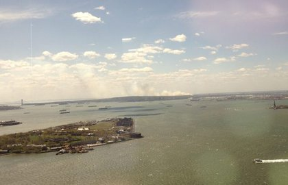 A view of the fire from lower Manhattan.
