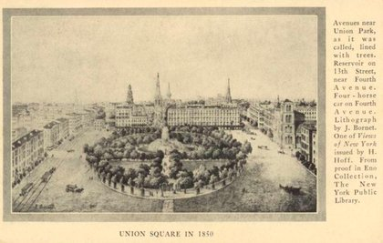 Union Square as it appeared in 1850.