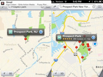 """When you search for """"Prospect Park"""" you default to New Jersey..."""