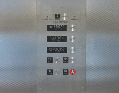 Don't push the concourse button on the elevator though?