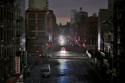 Lower Manhattan post-Sandy