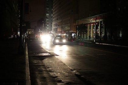 14th Street in the dark.