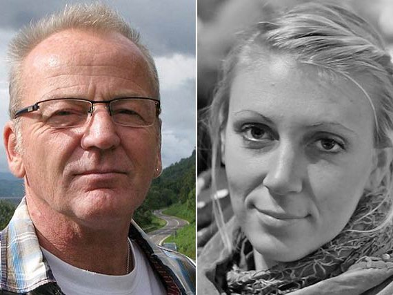 Poul Hagen Thisted and Jessica Buchanan, the rescued aid workers