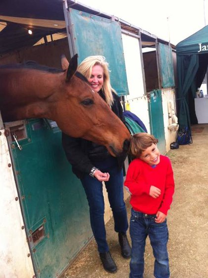 Ann Romney with one of her horses