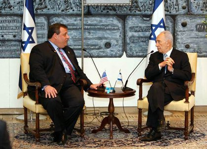 With President Peres