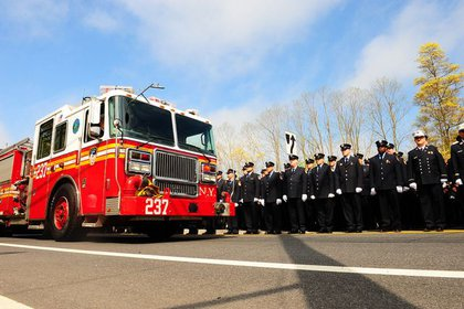 Firefighters pay tribute to Lt. Richard Nappi