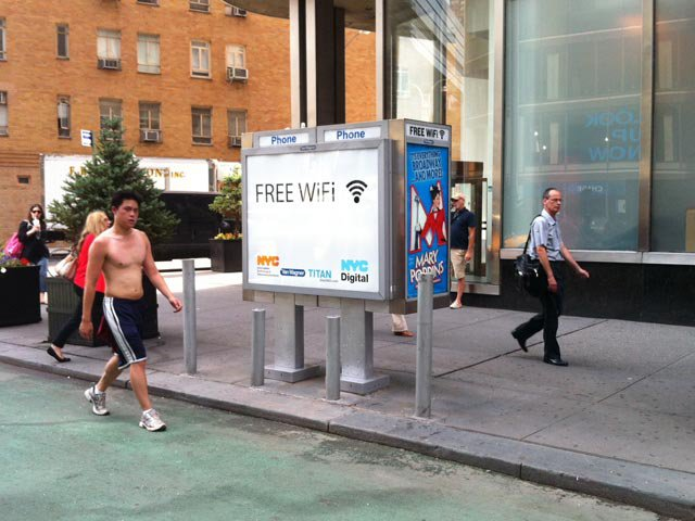 Nyc Starts Offering Free Unlimited Wifi Via Payphone Kiosks